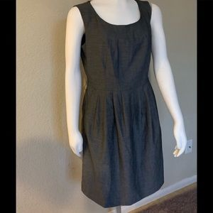 H&M Dark Grey Lined and Darted Dress